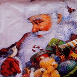 24346. Санта Клаус с синичкой. 15 шт., 8 руб/шт