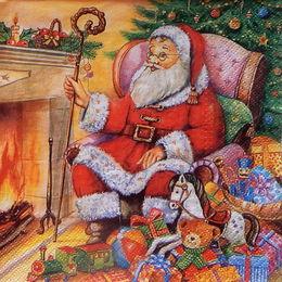 24348. Санта Клаус у камина. 5 шт., 12 руб/шт