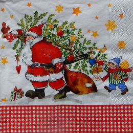24355. Дед Мороз с подарками. 15 шт., 6 руб/шт