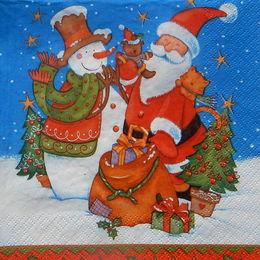 24357. Дед Мороз и снеговик
