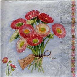 24368. Розовый букетик на голубом. 5 шт., 11 руб/шт