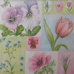 4165. Коллаж с цветочками. 15 шт., 12 руб/шт