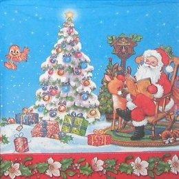 4322. Дед Мороз и олененок. 5 шт., 11 руб/шт