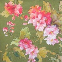 4406. Цветы на зеленом. 20 шт., 5,5 руб/шт