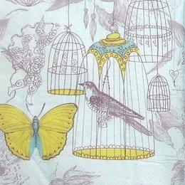 8312. Птица в клетке. 15 шт., 6 руб/шт