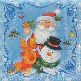 8369. Дед мороз, снеговик и олень