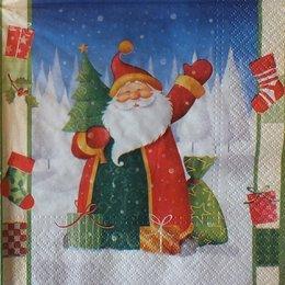 8612. Дед Мороз с елкой и подарками. 10 шт., 9 руб/шт
