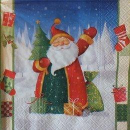 8612. Дед Мороз с елкой и подарками. 15 шт., 8 руб/шт