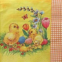 9415. Цыплята на желтом. 10 шт., 8 руб/шт