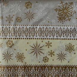 9450. Золотые снежинки. 40 шт., 5 руб/шт