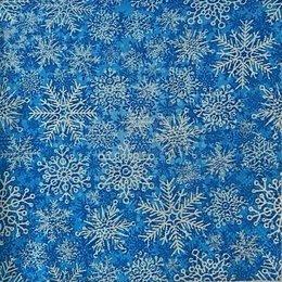 9953. Снежный узор на синем. 10 шт., 8 руб/шт