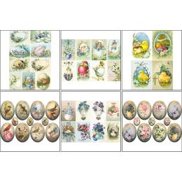 11612. Набор декупажных карт «Пасхальные яйца»