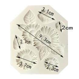 М-428. Молд Цветы и листья