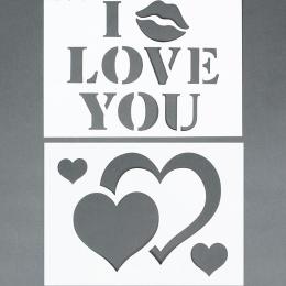 10461. Трафарет «I Love you!». 2 шт