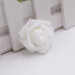 hm-1009. Розочка из фоамирана, белая. 10 шт., 11 руб/шт