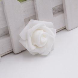 hm-1009. Розочка из фоамирана, белая. 20 шт., 10 руб/шт