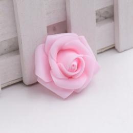 hm-1012. Розочка из фоамирана, светло-розовая. 10 шт., 11 руб/шт