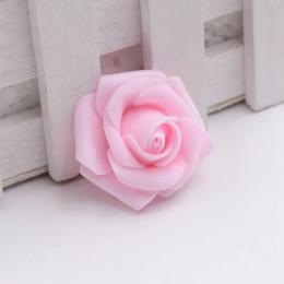 hm-1012. Розочка из фоамирана, светло-розовая. 50 шт., 9 руб/шт