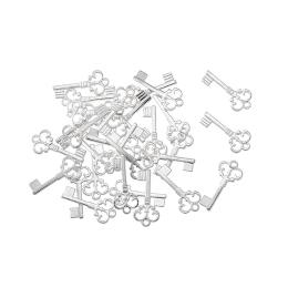 hm-104. Подвеска Ключик, цвет серебристый. 20 шт., 7 руб/шт