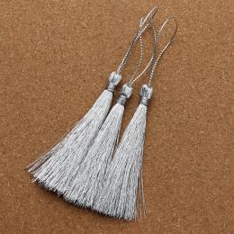 hm-1058. Кисточка, цвет серебро. 10 шт., 14 руб/шт