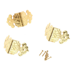 hm-1229. Накладка Уголок, цвет золото. 12 шт., 17 руб/шт