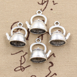 hm-1251. Подвеска Чайник, цвет серебро, 5 шт., 21 руб/шт