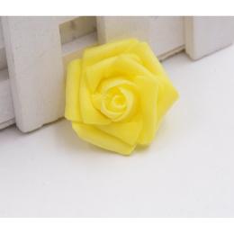 hm-1264. Розочка из фоамирана, желтая, 20 шт., 10 руб/шт
