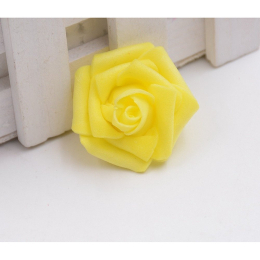 hm-1264. Розочка из фоамирана, желтая, 200 шт., 7 руб/шт