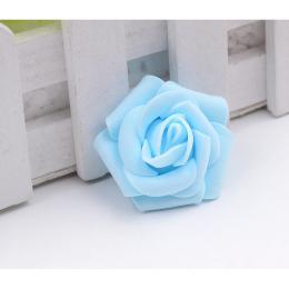 hm-1266. Розочка из фоамирана, голубая, 100 шт., 8 руб/шт