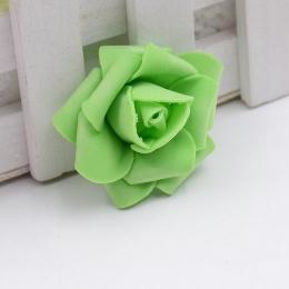 hm-1315. Розочка из фоамирана, зеленая. 20 шт., 10 руб/шт