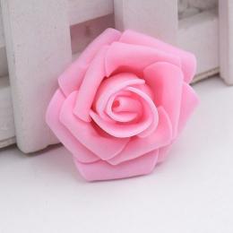 hm-1317. Розочка из фоамирана, розовая. 100 шт., 8 руб/шт