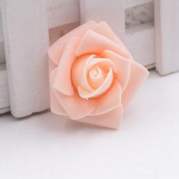 hm-1318. Розочка из фоамирана, абрикосовая. 50 шт., 9 руб/шт