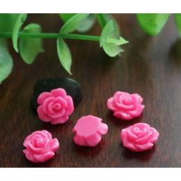 hm-1355. Кабошон Роза, цвет розовый. 50 шт., 7 руб/шт