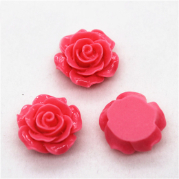 hm-1361. Кабошон Роза, цвет розовый. 50 шт., 16 руб/шт