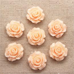 hm-1362. Кабошон Роза, цвет персиковый. 20 шт., 18 руб/шт