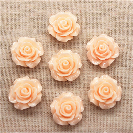 hm-1362. Кабошон Роза, цвет персиковый. 5 шт., 22 руб/шт
