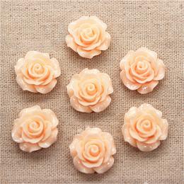 hm-1362. Кабошон Роза, цвет персиковый. 100 шт., 14 руб/шт