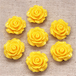 hm-1363. Кабошон Роза, цвет желтый. 5 шт.,  22 руб/шт