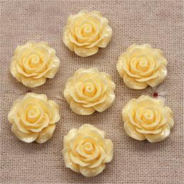 hm-1368. Кабошон Роза, цвет экру. 50 шт., 16 руб/шт