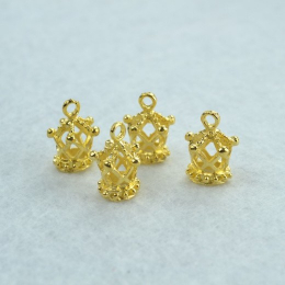 hm-1416. Подвеска Корона, цвет золото
