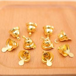 hm-1500. Колокольчики, цвет золото. 100 шт., 3 руб/шт