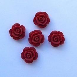 hm-1515.  Кабошон Роза, терракотовый. 50 шт., 8 руб/шт