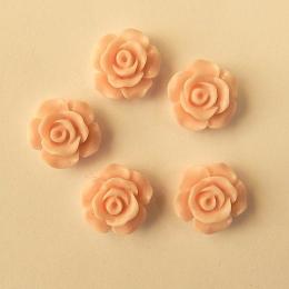 hm-1516.  Кабошон Роза, персиковый, 5 шт., 12 руб/шт
