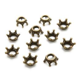 hm-1647. Декор корона, цвет бронза. 200 шт., 6,5 руб/шт