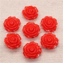 hm-1766. Кабошон Роза, красный. 20 шт., 13 руб/шт