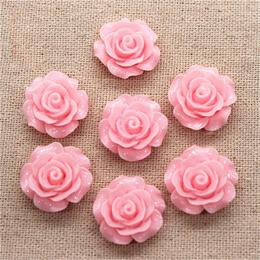 hm-1767. Кабошон Роза, розовый. 100 шт., 14 руб/шт