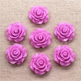 hm-1768. Кабошон Роза, фиолетовый. 50 шт., 14 руб/шт