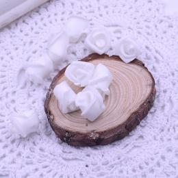 hm-1787. Розочка из фоамирана, белая. 10 шт., 8 руб/шт