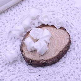 hm-1787. Розочка из фоамирана, белая. 100 шт., 5 руб/шт