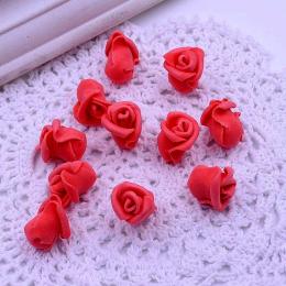 hm-1788. Розочка из фоамирана, красная. 5 шт., 10 руб/шт